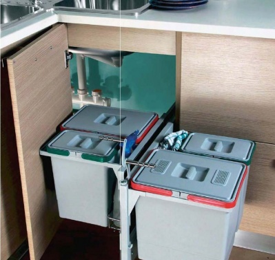 Corner pull-out dustbin